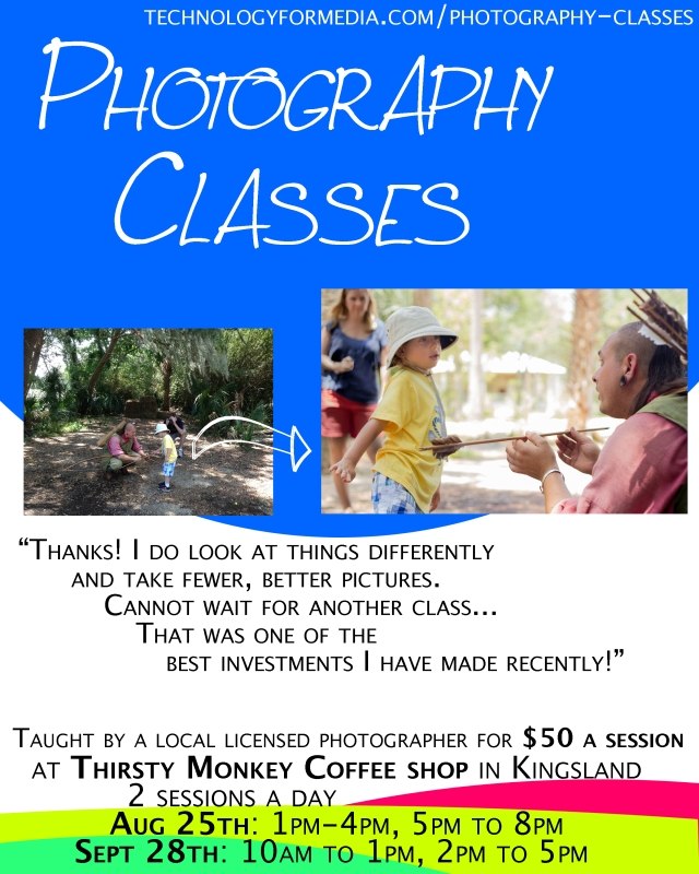 Photography classes Kingsland GA Camden County