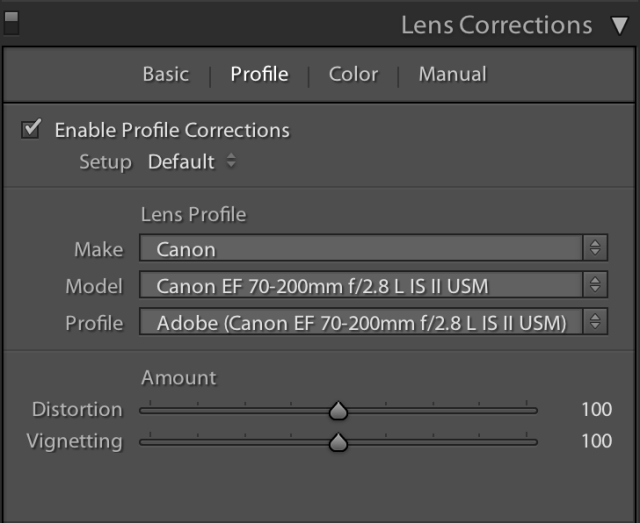Lens Correction Profile