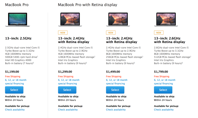 apple macbook product line